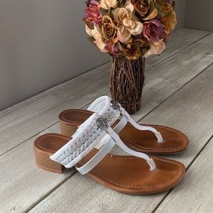Nautica Braided Straps Heeled Sandals
